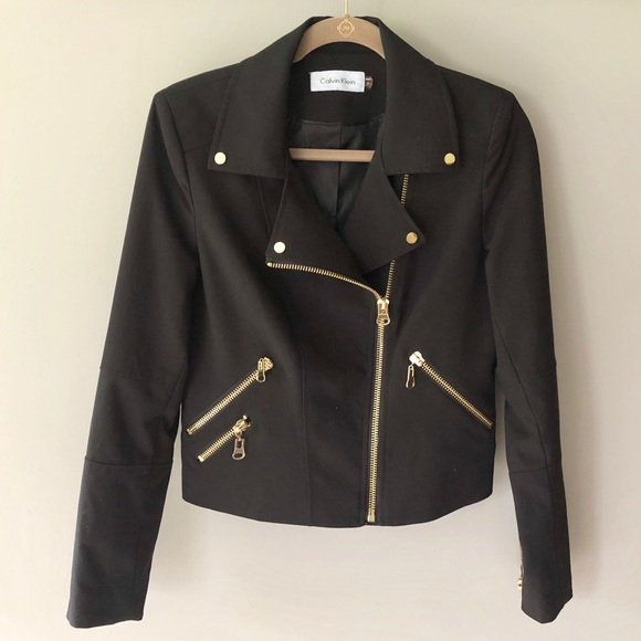 Calvin Klein Jackets & Blazers - Calvin Klein Asymmetrical Zipper Moto Jacket